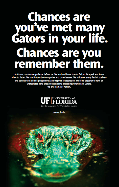 Chances are . . . UF Ad