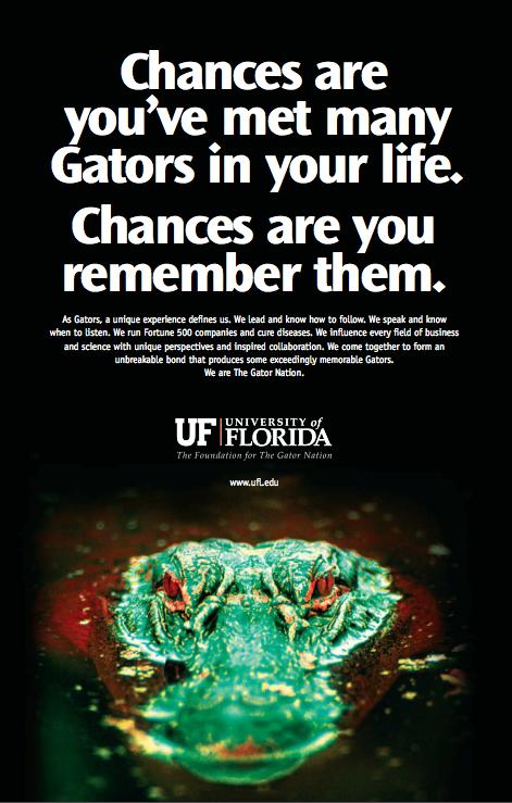 Chances are . . . UF Ad
